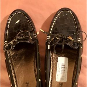 Sperry Shoes - SPERRY Leather 8.5 Croc-Embossed Loafers NWB